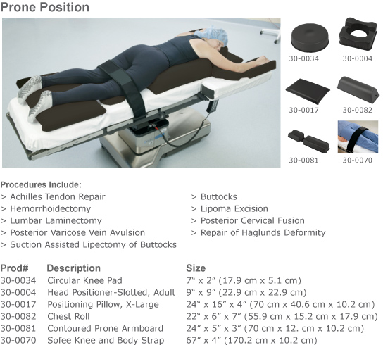 HealthCare Positioners - AirSoft® Surgical Positioning Kits